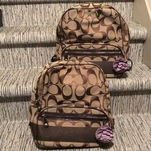 Brown Coach Backpack - NEW